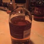 りんどう - シングルモルトウイスキーあかし8年 ラベル