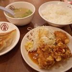大阪王将 - ミニもん半餃子定食