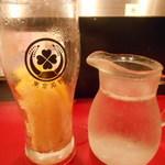 東京MEAT酒場 - 冷結グレープフルーツサワー(入れる前)