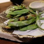 うおづや - 焼き枝豆(460円)