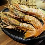 うおづや - 富山海老塩焼き(1230円)