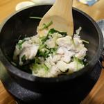 うおづや - 鯛と三つ葉の釜飯(1130円)