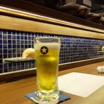 うおづや - 生ビール(490RN)