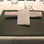 リストランテ カノフィーロ - 2017年6月3日のテーブルセット