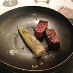 リストランテ カノフィーロ - 平取牛モモ肉のグリーリアと笹竹