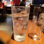 恋鯉 - お水は、大きなグラス(^^)