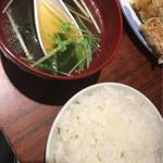 テムジン - ライス(スープ付き)
