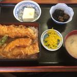 食事処 やまよ - あな天重定食(1300円)