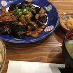 菊正宗おみき茶屋 - 2017年6月2日  なすと豚肉のみそ炒め定食