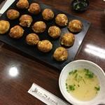 たこ磯 - ミックス焼き(たこ、あなご)  1100円