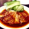 中国上海料理 豫園 - 料理写真:「ニンニクキュウリと豚肉四川風和え」(単品は380円)。