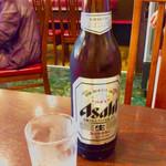 中国上海料理 豫園 - 「瓶ビール(大)」(580円)。