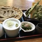 68049183 - 山菜と春の野菜天ざる(数量限定)