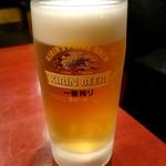 麻布茶房 - 生ビール:370円(セット価格)
