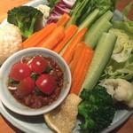 サイアムセラドン - 彩り野菜とトマト風味の肉味噌ディップ
