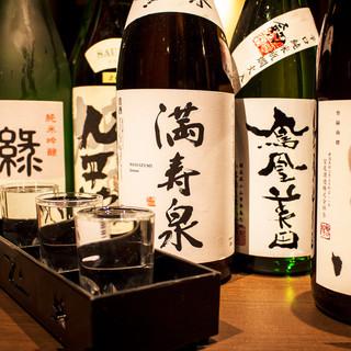日本酒や焼酎など…日本全国より厳選した地酒を多彩にご用意!