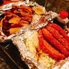 ホウテン食堂 奉天本家 - 料理写真:『昭和のハムカツ&せせり鉄板?』様(値段忘れた)