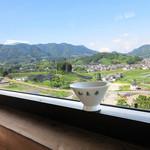 和束茶カフェ - 天空カフェ窓越しに(2017.5月)