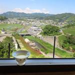 和束茶カフェ - 天空カフェ窓越し(2017.5月)