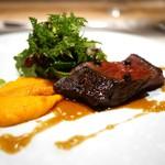 SUGALABO - 料理写真:仙台黒毛和牛ハラミ 海老原農園のサラダ