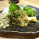 天ぷら海鮮友福 - 真鯵のなめろう