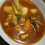曉 - 豚角煮と根菜  辛さ50