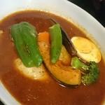 曉 - チキン+3野菜   辛さ15