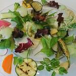 68067863 - モネの庭園をイメージした野菜の一皿
