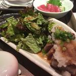 泉光 - 料理写真:ランチのまぐろステーキ