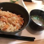 和食 直 - 桜エビの土鍋ご飯&味噌汁