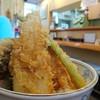 食事処 みしまや - 料理写真:穴子天丼。大ぶりの穴子2枚にアスパラ・蓮根・舞茸・南瓜・茄子・梅干だったかな。