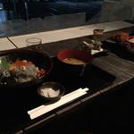 座々丸 - 生しらすいくら丼と、明太まぐろかつと釜揚げしらす丼御膳 さざえ
