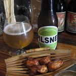 大阪食酒 リエカオ - なにわポーク+箕面ビール