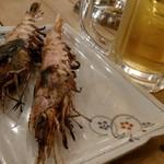 日本鮮魚甲殻類同好会 - お通し海老。決して悪くはない。