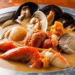 よろず屋 魚之介 - ウニの黄金鍋