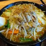 68079747 - 野菜カレーらーめん+野菜増し+肉盛り