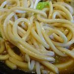 カレーラーメン 麺屋ここいち - 野菜カレーらーめん+野菜増し+肉盛り(麺アップ)