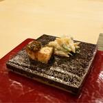 松弥 - 鯛白子の煮凝り、三つ葉