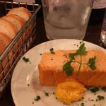 Bar de Ollaria - ズワイガニのパテ700円アリオリソースは卵とニンニクのみだそう。