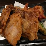 串処 権鹿 - 豚バラミルフィーユ天 680円。