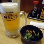 フナバシ屋 - 「生ビール」480円也。