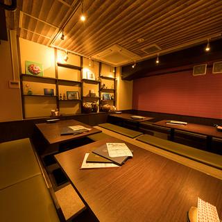 【掘りごたつ個室】本場沖縄の雰囲気満点!半個室~20名
