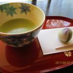 茶室 おおすみ山居 - ドリンク写真:「温抹茶(主菓子付 500円」