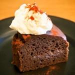 アカツキコーヒー - ダブルチョコレートケーキ