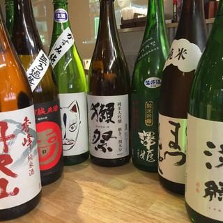 日本全国から選りすぐりの地酒10種&地魚と相性抜群のビール