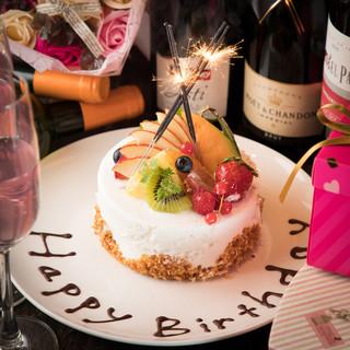 誕生日や記念日に♪サプライズでデザートプレートをサービス☆