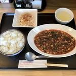 中華飯店 杏竜 - 料理写真:四川麻婆豆腐セット、980円です。