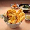 鶏と旬野菜の天丼