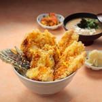 天吉屋 - 鶏野菜天丼
