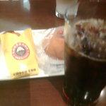 681251 - 夏限定のマンゴーココナツチョコクロとアイスコーヒー